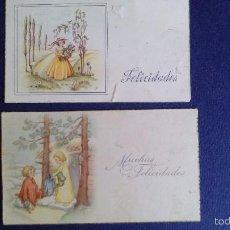 Postales: 2 BONITAS POSTALES ILUSTRADAS ESCRITAS. Lote 61086399