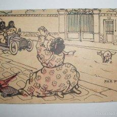 Postales: FOTO, POSTAL CARICATURA ESCENA DE UNA CALLE. PAR PITIÉ!! CIRCULADA. P.P. 1900. Lote 61145483