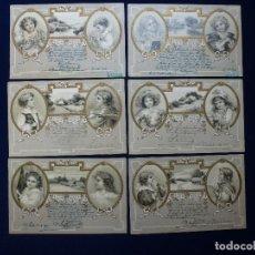 Postales: 6 POSTALES. NIÑOS Y PAISAJES. 1903. Lote 61489511