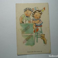 Postales: POSTAL NIÑOS-DIBUJO BOMBON-CMB SERIE 83--ESCRITA. Lote 62104244
