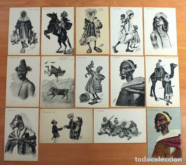 Postales: IMPRESIONANTE COLECCION DE 14 POSTALES DE MOROS EDICION BOIX HERMANOS MELILLA, VER DESCRIPCION - Foto 2 - 62196388