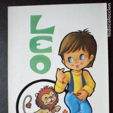 Postales: POSTAL LEO ZODIACO. Lote 62456356