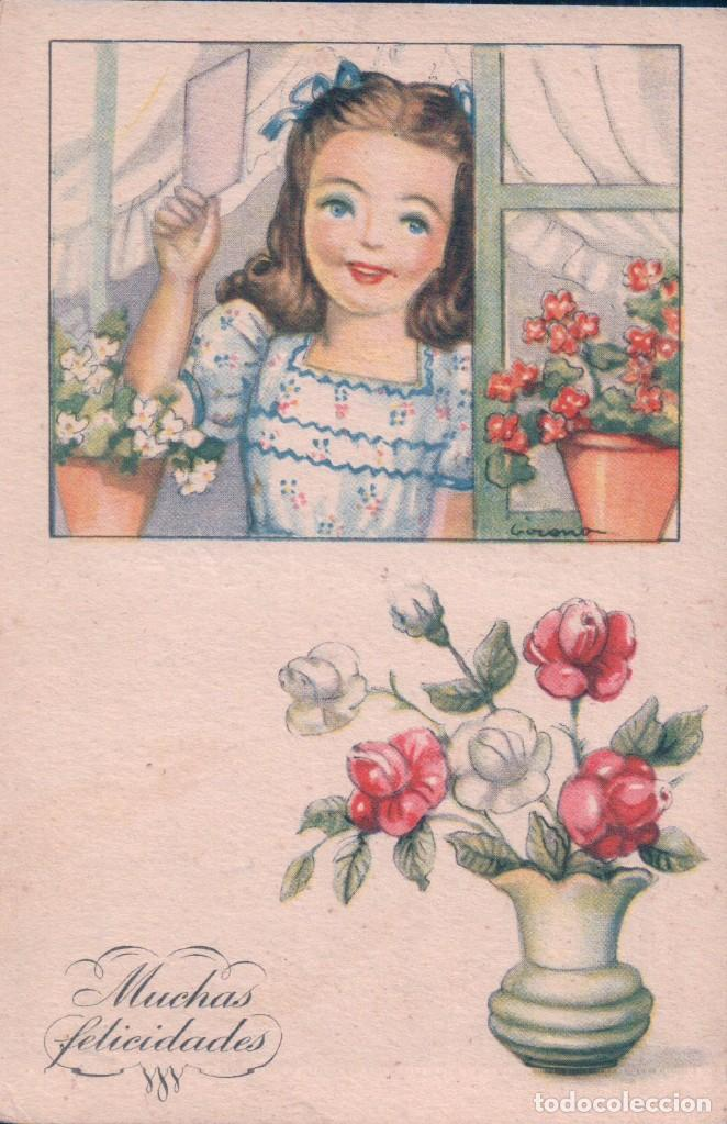 POSTAL CARICATURA DE FELICITACION. MUCHAS FELICIDADES (Postales - Dibujos y Caricaturas)