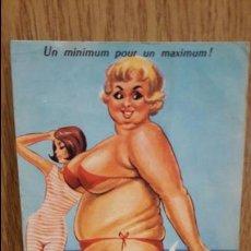 Postales: UN MINIMUM POUR UN MAXIMUM ! POSTAL FRANCESA CIRCULADA EN 1966.. Lote 63561392