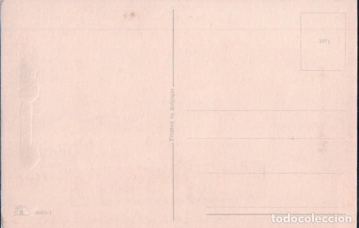 Postales: POSTAL CARICATURA NILOS JUGANDO ARBOL. BONNE FETE. - Foto 2 - 64049047