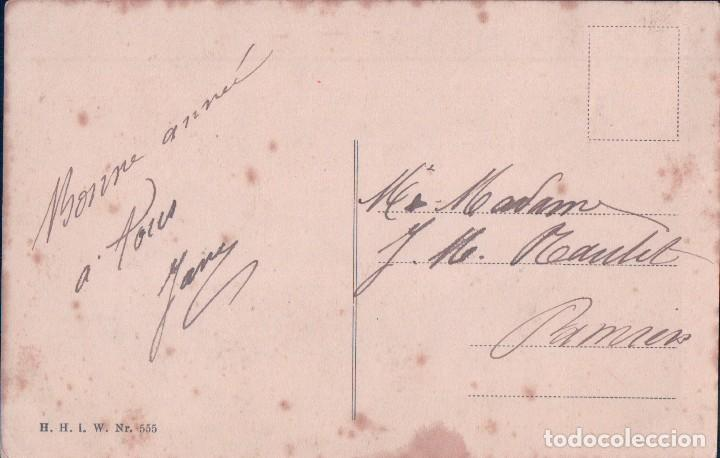 Postales: POSTAL CARICATURA NILO CON PERROS EN UN GLOBO. CIRCULADA 1910 - Foto 2 - 64050611