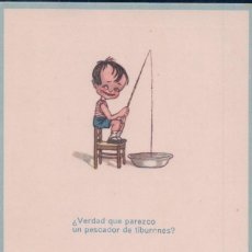 Postales: POSTAL CARICATURA. NIÑO PESCANDO ..... MAURI SERIE 6. Lote 64419767