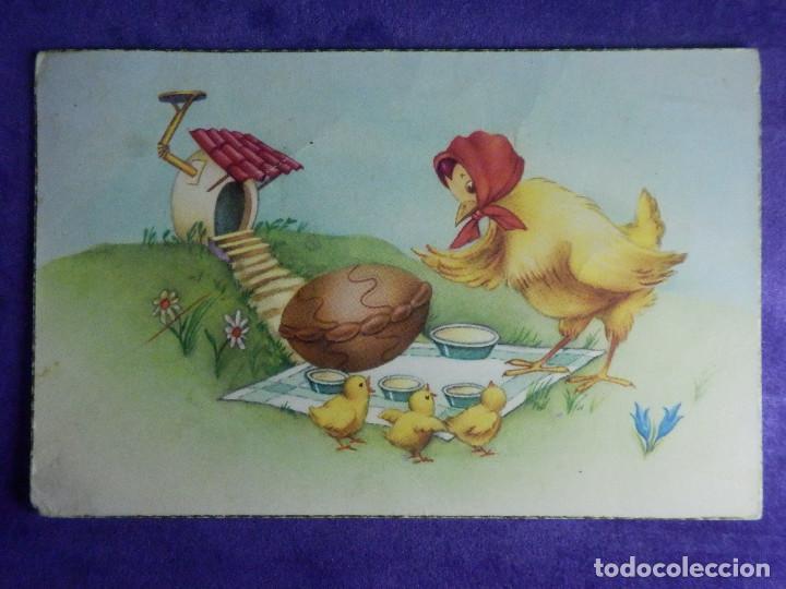 Postal Dibujos Y Caricaturas Gallina Con Po Kaufen Alte