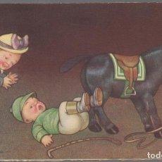 Cartes Postales: POSTAL DE UNOS NIÑOS CON BURRO COLONIMBA - GOLONIBA. Lote 65106659