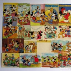 Postales: MICKEY MOUSE 18 POST CARDS WALT DISNEY PRODUCTIONS SIN CIRCULAR. Lote 65747126