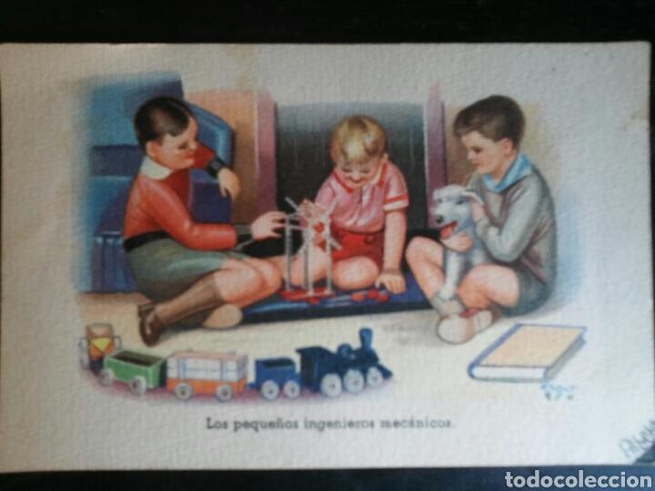Postales: Postal Años 41/44 Lote de Tres POSTALES. Dibujo - Foto 3 - 65913251