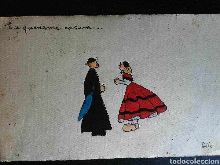 Postales: Postal Años 41/44 Lote de Tres POSTALES. Dibujo - Foto 4 - 65913251
