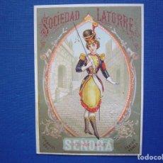 Postales: TEATRO ROMEA SOCIEDAD LATORRE , CARNAVAL 1883, BAILES DE MASCARAS - INVITACIÓN PASE . Lote 65933938