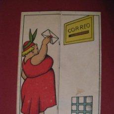 Postales: TARJETA POSTAL CARICATURA. NO HAY DATOS DE EDICIÓN. AÑO 1938. ESCRITA.. Lote 67033202
