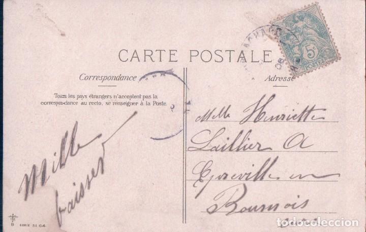 Postales: Postal Dibujo humorístico 1 Abril. Señorito con peces en mano. Circulada - Foto 2 - 67936489