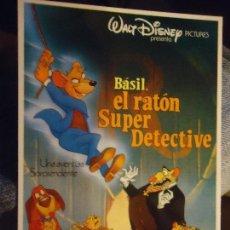 Postales: POSTAL ORIGINAL WALT DISNEY´S - BASIL EL RATON SUPER DETECTIVE. Lote 68602425