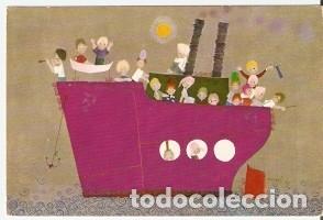 POSTAL DIBUJO. BARCO Y NIÑOS (REF: 73-85) (Postales - Dibujos y Caricaturas)