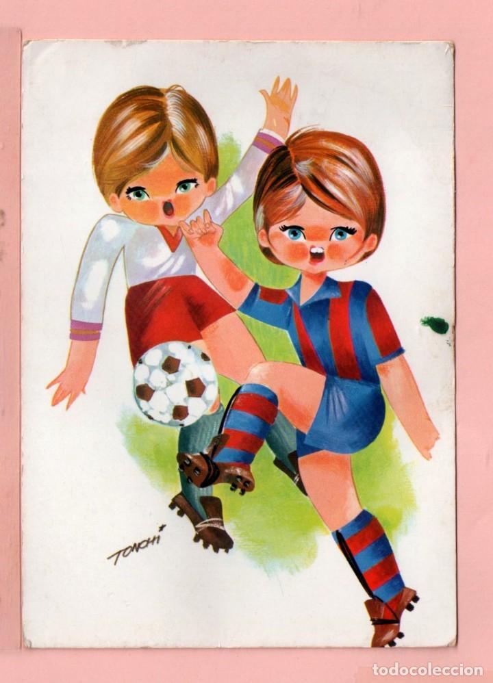 Postal De Dibujo Ninos Jugando Futbol Dibujo T Comprar Postales
