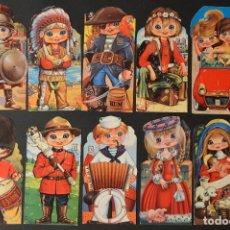 Postales: LOTE 10 POSTALES DIBUJO CARICATURA POSTAL TROQUELADA GOLDEN BOY SIN CIRCULAR. Lote 69753673