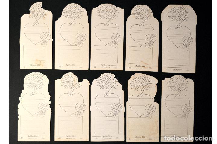 Postales: LOTE 10 POSTALES DIBUJO CARICATURA POSTAL TROQUELADA GOLDEN BOY SIN CIRCULAR - Foto 2 - 69753673