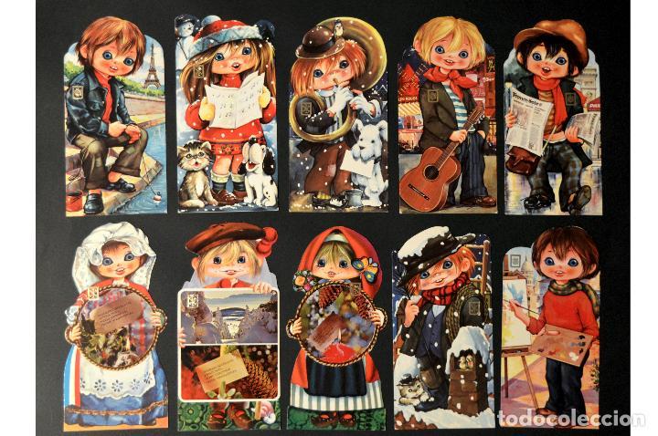 LOTE 10 POSTALES DIBUJO CARICATURA POSTAL TROQUELADA GOLDEN BOY SIN CIRCULAR (Postales - Dibujos y Caricaturas)