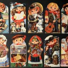 Postales: LOTE 10 POSTALES DIBUJO CARICATURA POSTAL TROQUELADA GOLDEN BOY SIN CIRCULAR. Lote 213500650