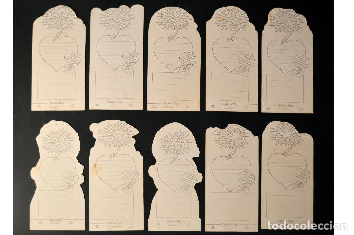 Postales: LOTE 10 POSTALES DIBUJO CARICATURA POSTAL TROQUELADA GOLDEN BOY SIN CIRCULAR - Foto 2 - 69753717