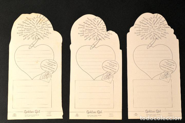 Postales: LOTE 3 POSTALES DIBUJO POSTAL TROQUELADA GOLDEN BOY SIN CIRCULAR - Foto 2 - 69763305