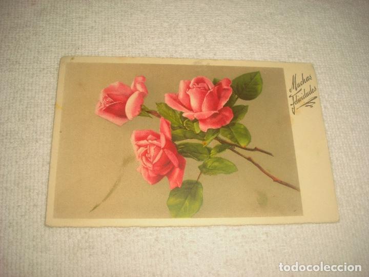 Postal De Flores Muchas Felicidades Casa Mi Comprar Postales