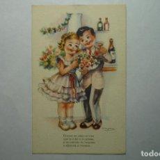 Postales: POSTAL DIBUJO GIRONA.-SERIE 140-MELODIAS SELECTAS.--ESCRITA. Lote 71167233