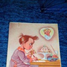 Postales: DIBUJO NIÑO ESCRIBIENDO CARTA DE AMOR - EDITORIAL FHER - CIRCULADA - AÑOS 40. Lote 71448715