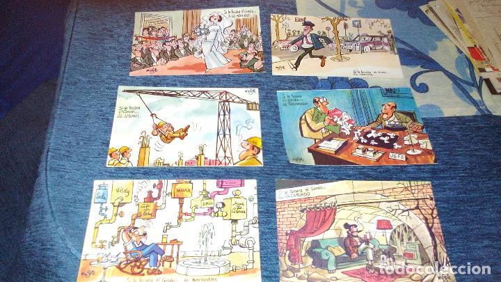 COLECCION 12 POSTALES HUMORISTICAS - ANTONIO MINGOTE - LOTERIAS DE NAVIDA Y GORDO - AÑO 1969 (Postales - Dibujos y Caricaturas)