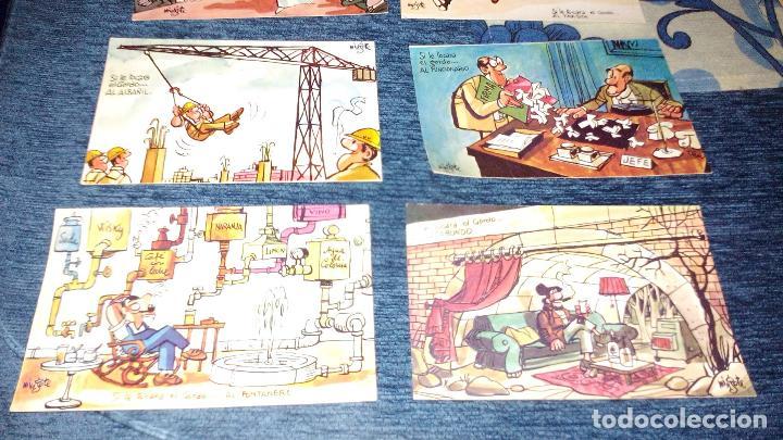 Postales: COLECCION 12 POSTALES HUMORISTICAS - ANTONIO MINGOTE - LOTERIAS DE NAVIDA Y GORDO - AÑO 1969 - Foto 2 - 71458195