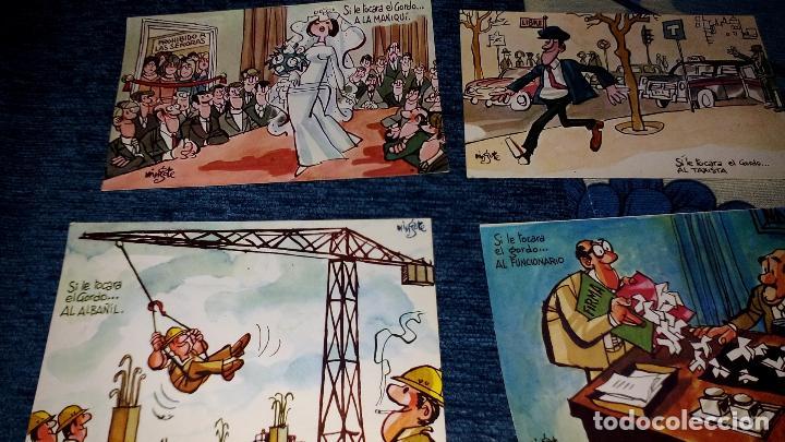 Postales: COLECCION 12 POSTALES HUMORISTICAS - ANTONIO MINGOTE - LOTERIAS DE NAVIDA Y GORDO - AÑO 1969 - Foto 3 - 71458195