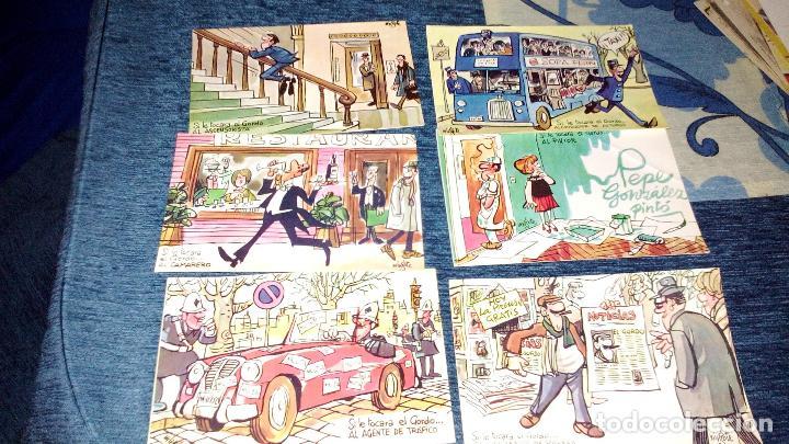 Postales: COLECCION 12 POSTALES HUMORISTICAS - ANTONIO MINGOTE - LOTERIAS DE NAVIDA Y GORDO - AÑO 1969 - Foto 4 - 71458195