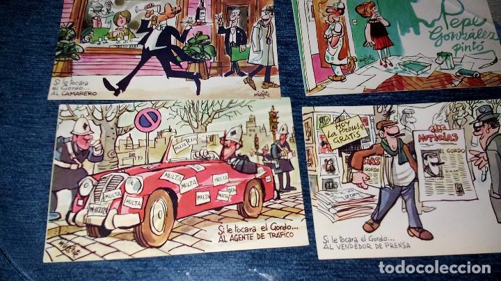 Postales: COLECCION 12 POSTALES HUMORISTICAS - ANTONIO MINGOTE - LOTERIAS DE NAVIDA Y GORDO - AÑO 1969 - Foto 5 - 71458195
