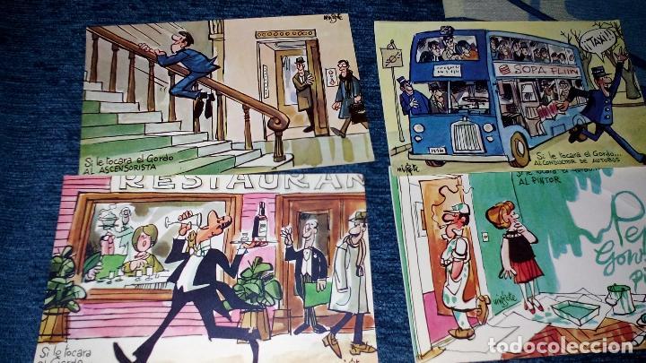 Postales: COLECCION 12 POSTALES HUMORISTICAS - ANTONIO MINGOTE - LOTERIAS DE NAVIDA Y GORDO - AÑO 1969 - Foto 6 - 71458195