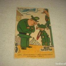 Postales: INTERESANTE POSTAL DE SOLDADOS , ILUSTRADA POR PUEYO . CIRCULADA. Lote 71901847