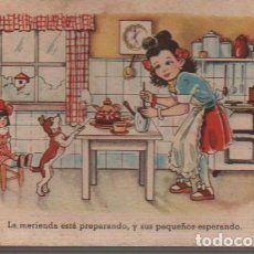 Postales: POSTAL NIÑA EN LA COCINA - DE C.M.B Nº 97 1947. Lote 71946967