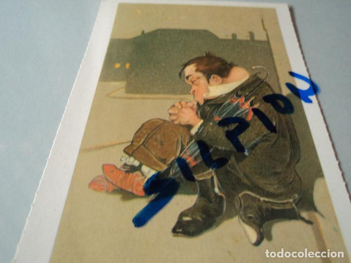 SEÑOR DURMIENDO EN LA CALLE ED ANTALBE 15 X 10 CM (Postales - Dibujos y Caricaturas)