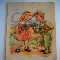 Postales: POSTAL PAREJA ROMANTICA - SOLDADO - GALCERAN Y AYNE - AÑOS 60. Lote 75904855