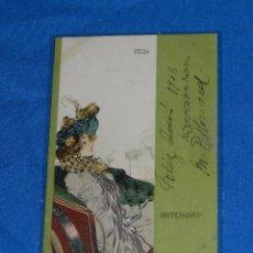 Postales: POSTAL ILUSTRADA POR RAPHAEL KIRCHNER , CIRCULADA 1903 , SEÑALES DE USO. Lote 77332181