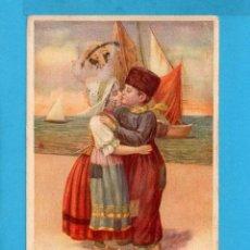 Postales: POSTAL DE DIBUJOS DE EXTRANJERO DE PAREJA DE ENAMORADOS EDITO ITALIA CIRCULADA SIN SELLO 1922. Lote 77878605