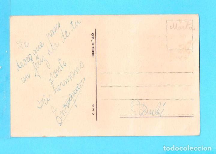 Postales: Postal de Dibujos Pareja con los Cisnes Dibujo Z Olot Edición CMB Serie Nº 49 Escrita - Foto 2 - 78317809
