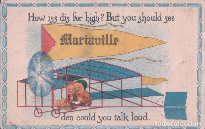 POSTAL AEROPLANO - HOW ISS DIS FOR HIGH? BUT YOU SHOULD SEE DEN COULD YOU TALK LOUD - 1915 (Postales - Dibujos y Caricaturas)