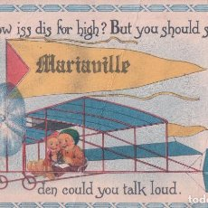 Postales: POSTAL AEROPLANO - HOW ISS DIS FOR HIGH? BUT YOU SHOULD SEE DEN COULD YOU TALK LOUD - 1915. Lote 78426745