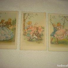 Postales: LOTE DE TRES ROMANTICAS POSTALES . JER , SERIE 201, SIN CIRCULAR. Lote 79196953