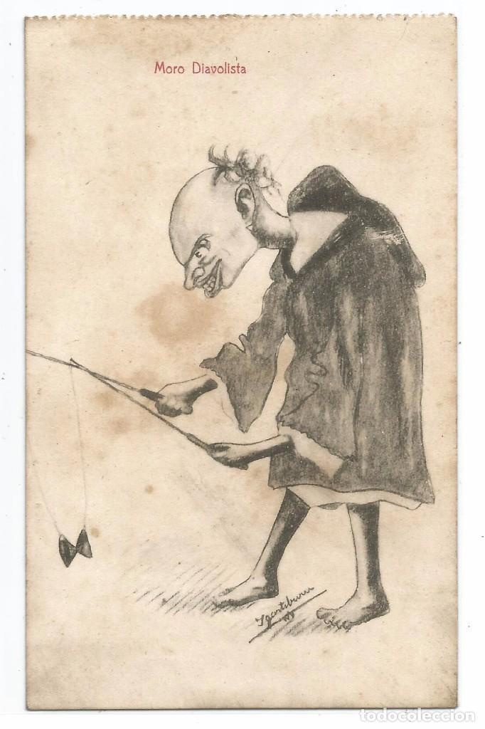 EDICIONES HERMANOS BOIX .- MELILLA .- MORO DIAVOLISTA .- ILUSTRA IGARTIBURU (Postales - Dibujos y Caricaturas)