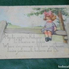 Postales: ANTIGUA POSTAL - MAYBE YOU'RE IN KOKOMO, ILLUSTRADOR TWELVETREES, EDWARD GROSS NY, CIRC.1921. Lote 80269793