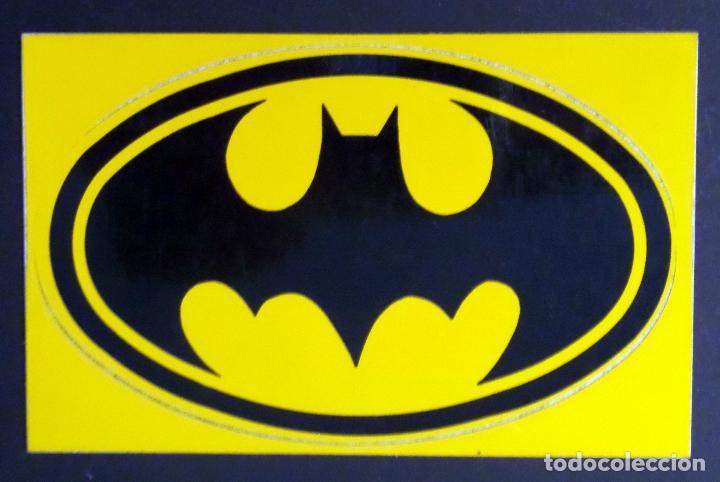Postales: Colección de 3 postales con adhesivos de BATMAN de TM & DC COMICS inc. año 1964. Ver fotos - Foto 2 - 80515269
